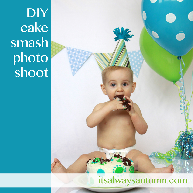 DIY Cake Smash photoshoot: get awesome photos of baby's first birthday at home!