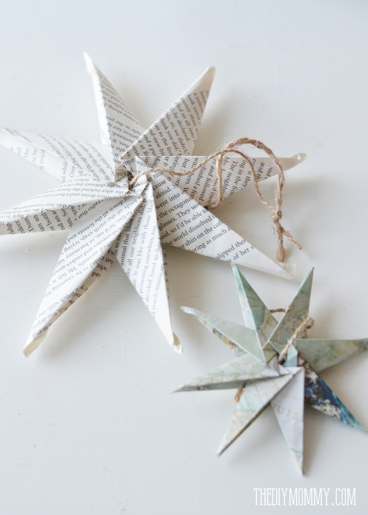 How to decorate with books and book pages - how to make book paper stars