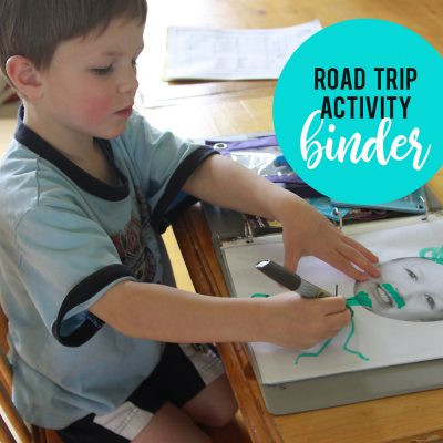 How to make a road trip binder to keep kids busy on long car rides