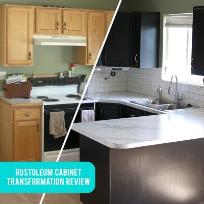 Rustoleum CabinetTransformations review, before + after, and tips + tricks