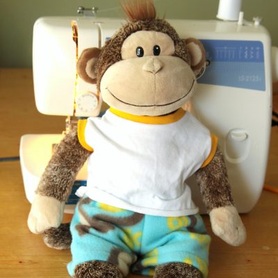 Easy + free sewing pattern for teddy bear pajamas