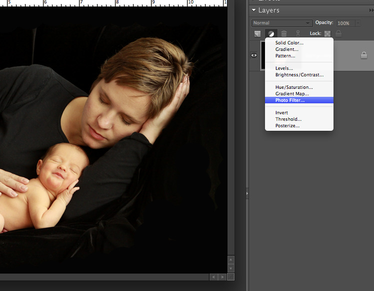photo open in photoshop elements with photo filter selected