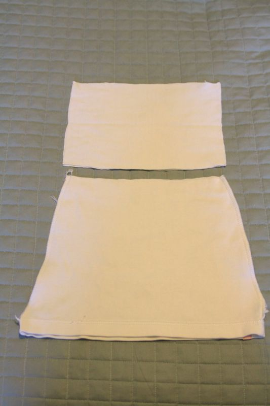 rectangle waistband pieces and skirt