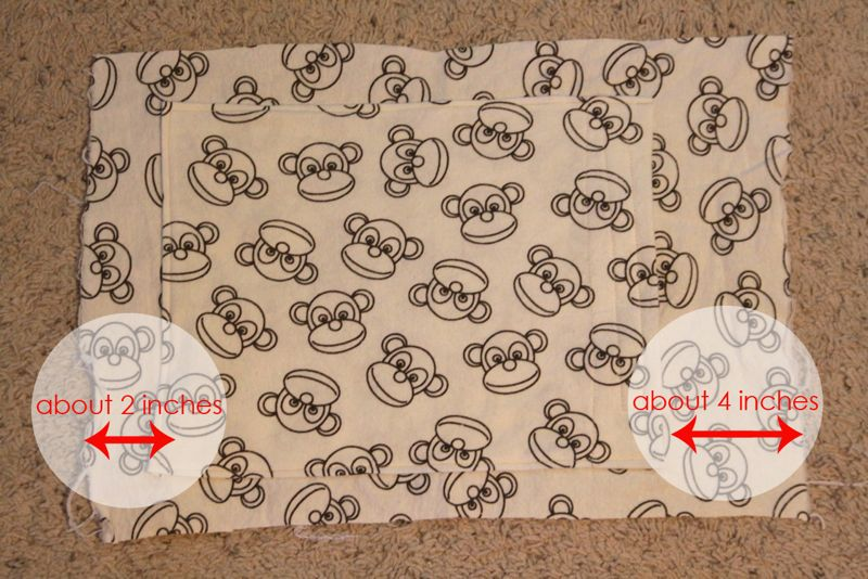 Pocket sewn into front of fabric pillow case