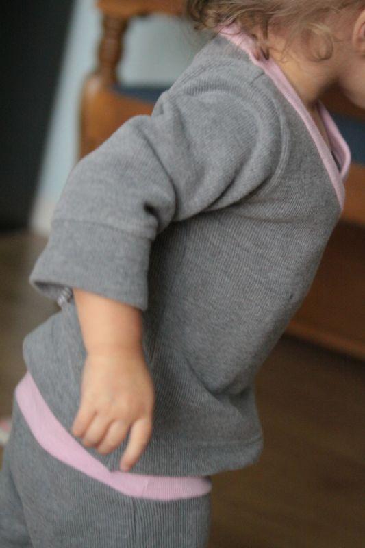 a little girl in pjs