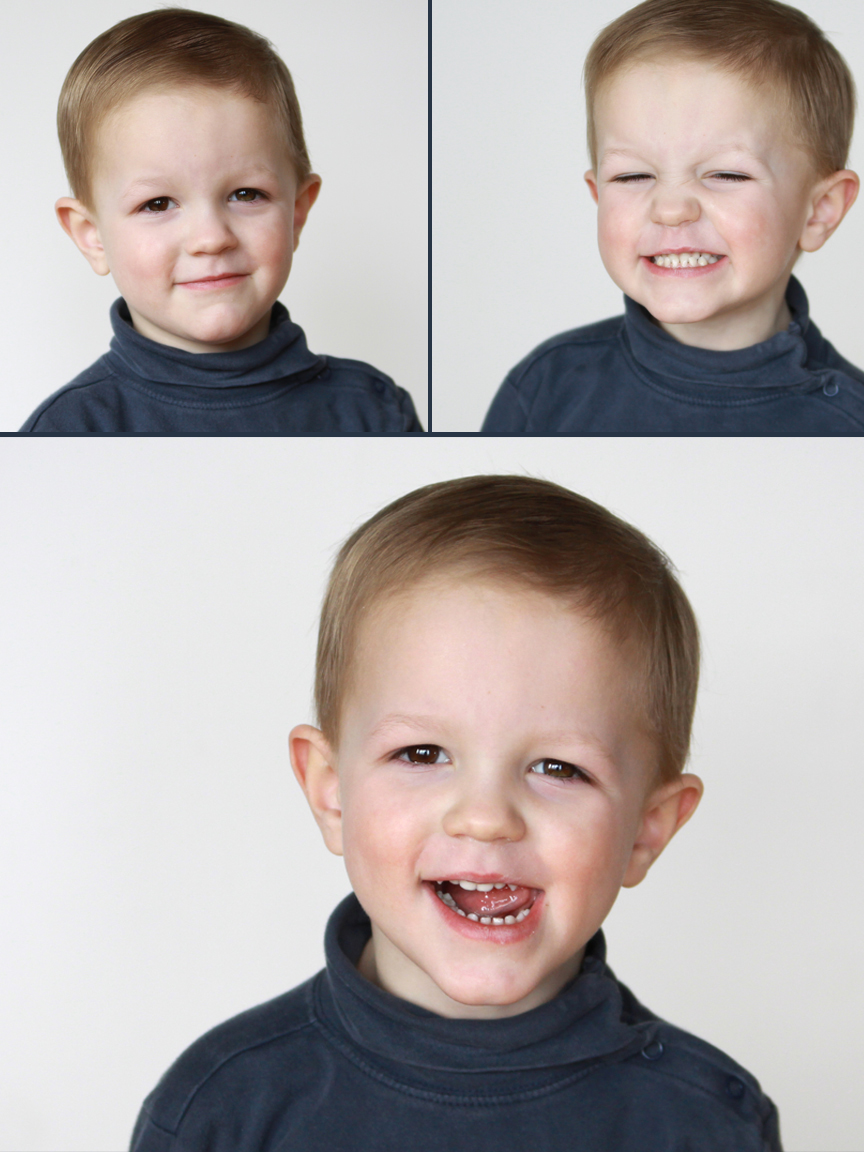 A small child smiling at the camera for a great picture