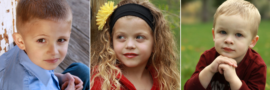 A close up of a little girl who is looking away