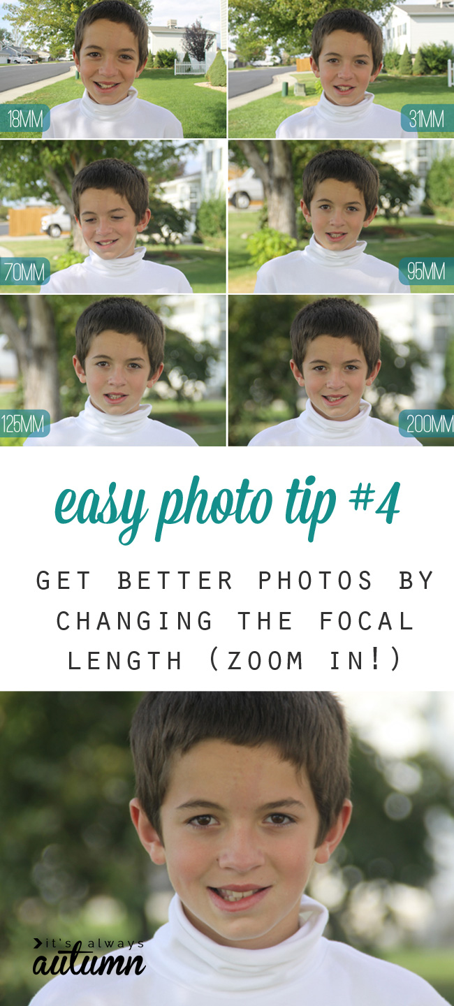 Photos showing how focal length affects the picture