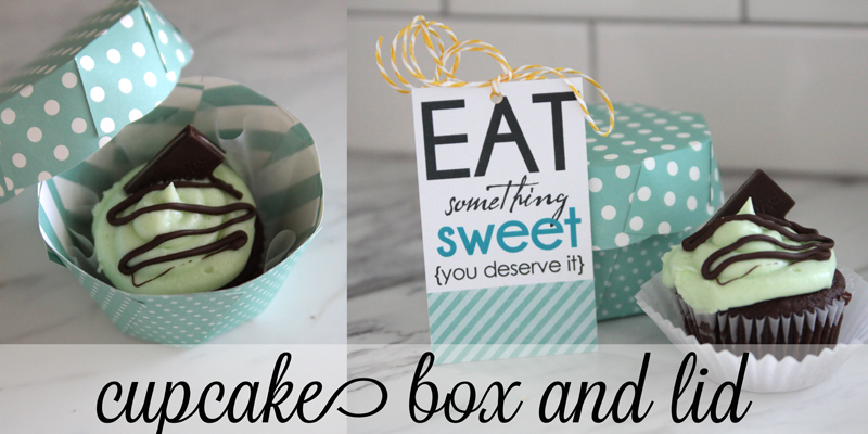 paper cupcake box and lid