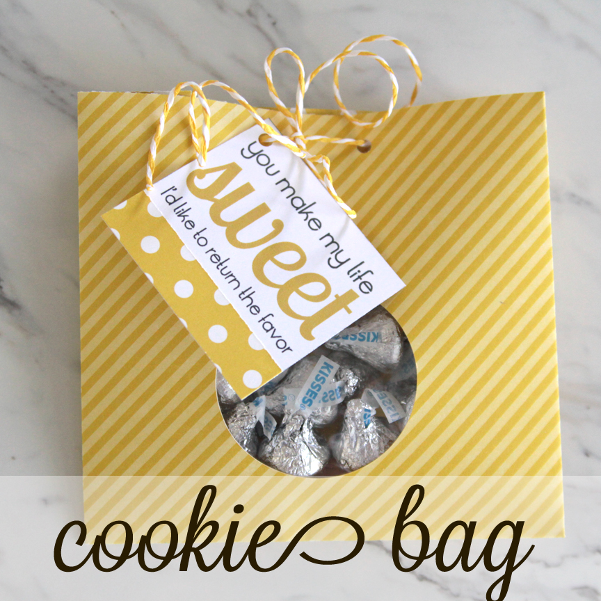 Cookie bag made from paper