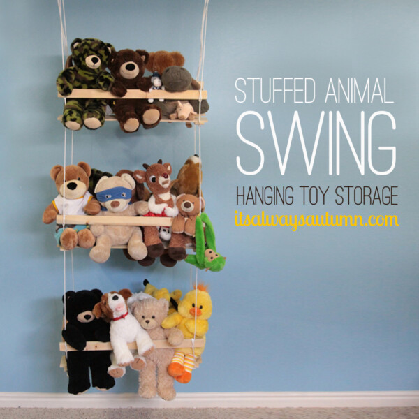 Stuffed animal swing hanging toy storage