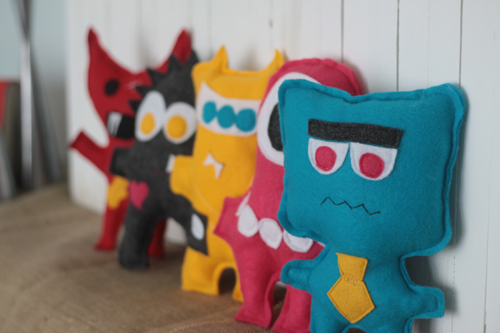 Sewing Projects for Children in Summertime - Felt Monster