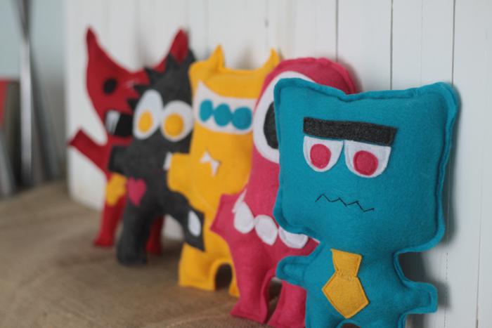 DIY felt monster toys