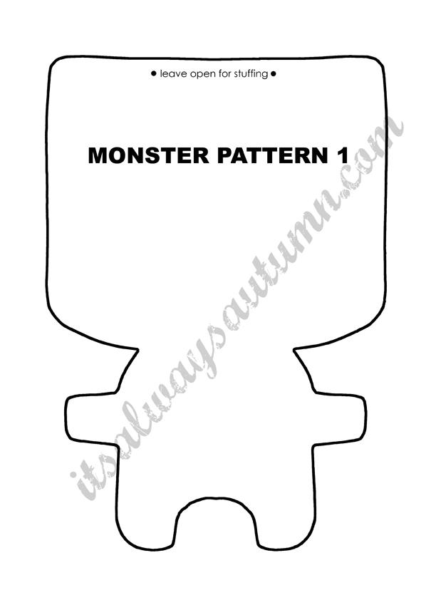 Felt monster pattern