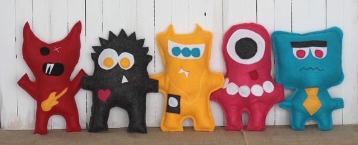 Handmade felt monsters for kids