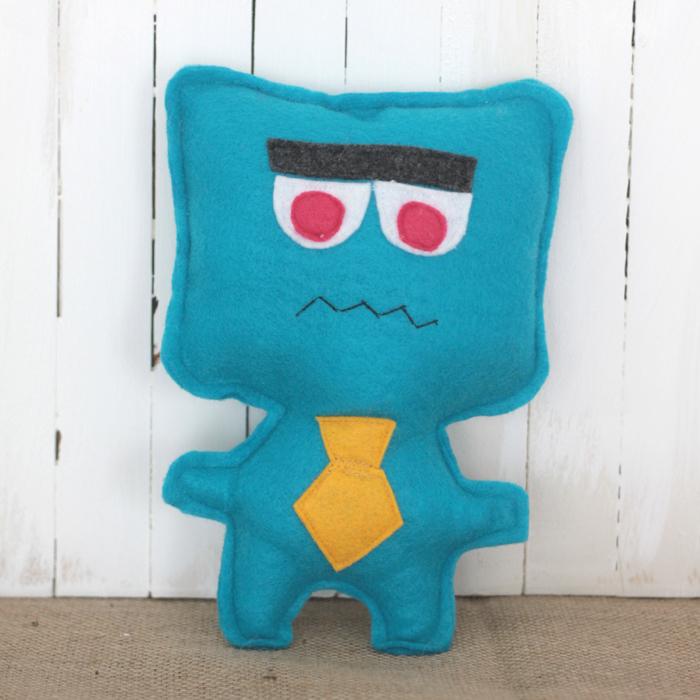DIY felt monster toy