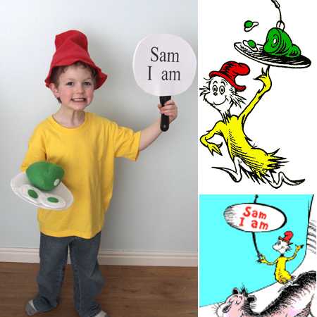 boy in green eggs and ham costume