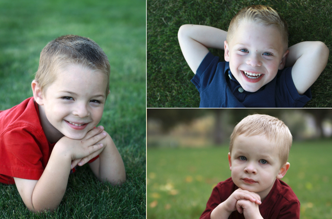 Pictures of little boys smiling for the camera
