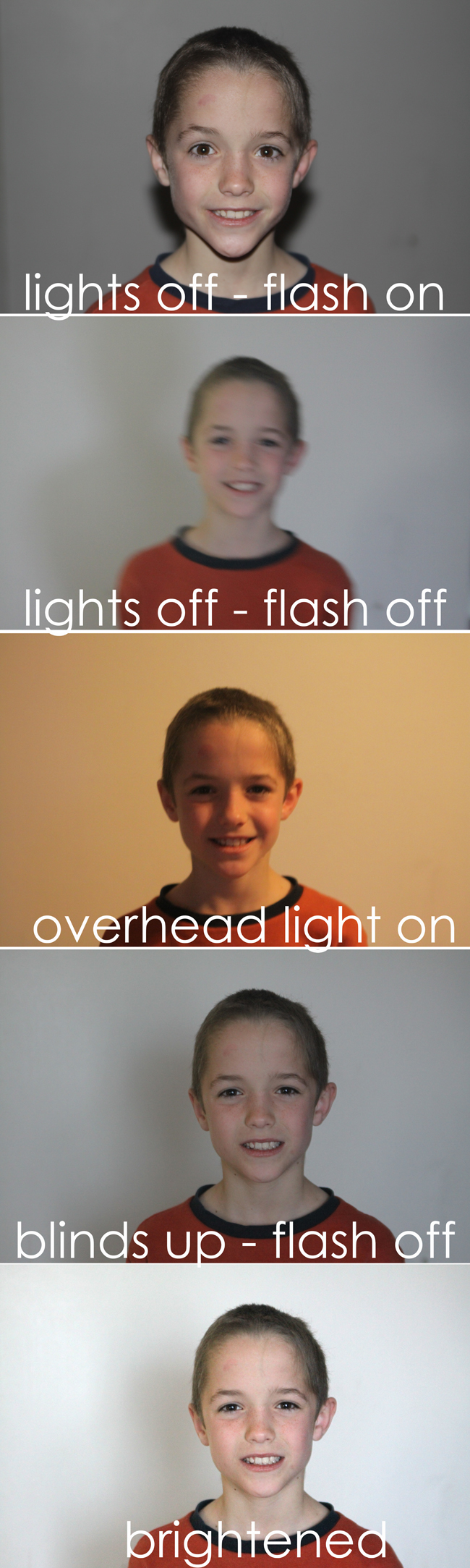 comparison photos of different lighting conditions
