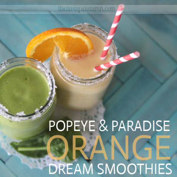 green and orange smoothies