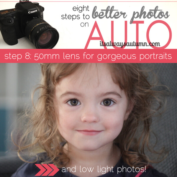 A little girl looking at the camera; eight steps to better photos, 50mm lens for gorgeous portraits