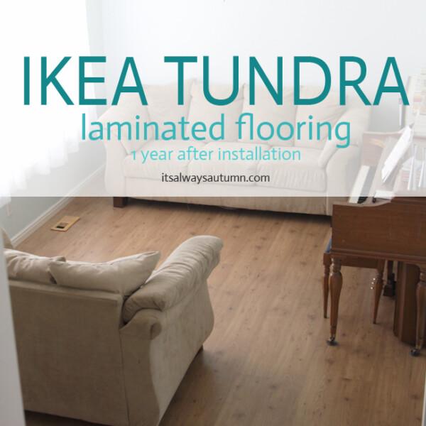 living room with IKEA tundra flooring
