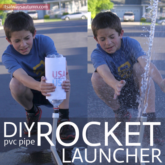little bot with DIY pvc pipe rocket launcher