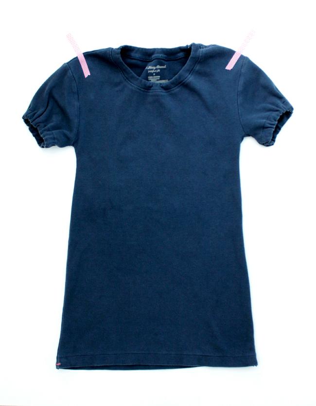 A little girls nightgown made from a t-shirt