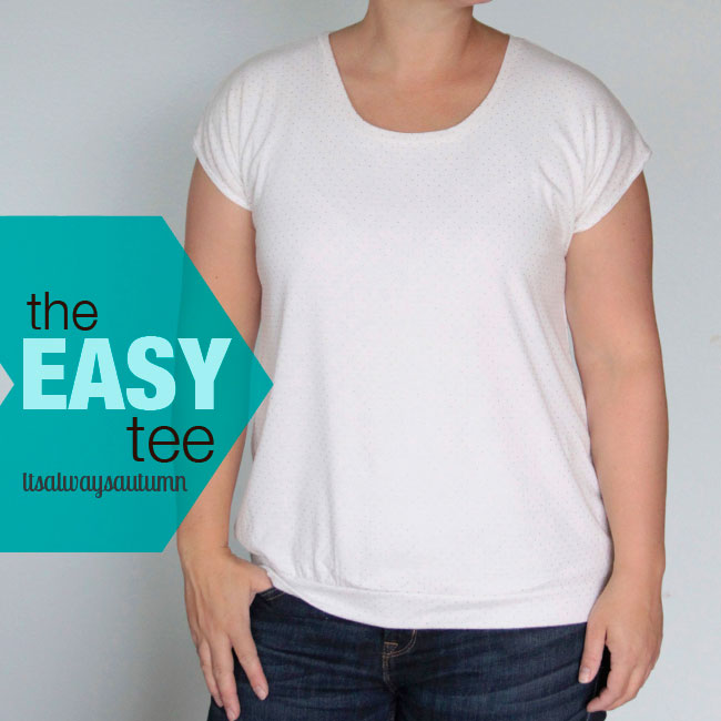 The easy tee shirt made from white knit fabric