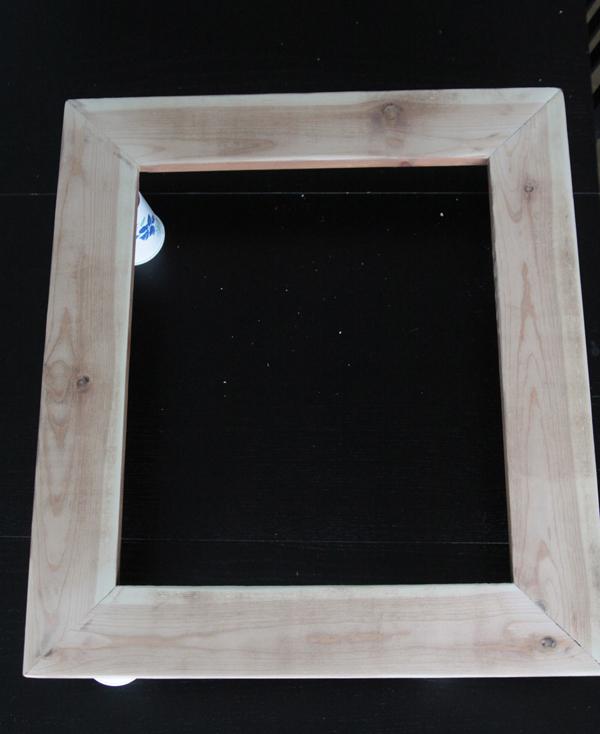 DIY wood frame