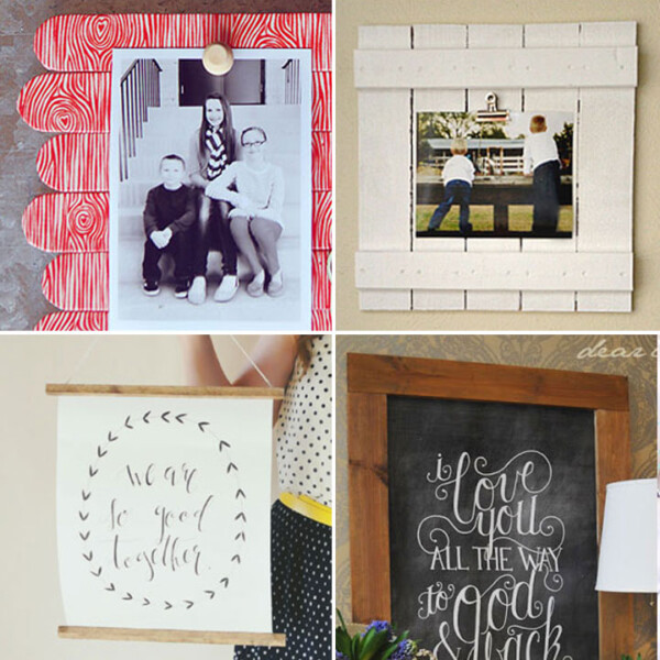 Collage of DIY picture frame ideas