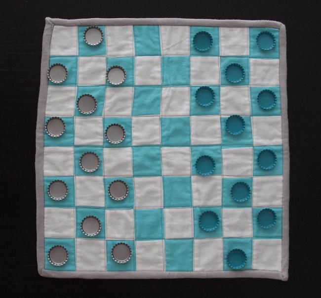 handmade fabric chess set
