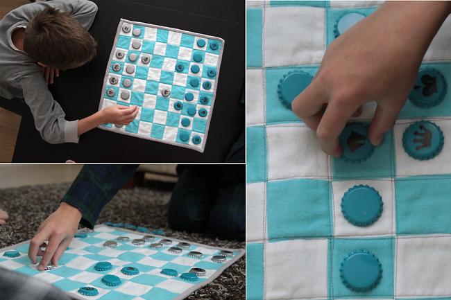 kids playing chess homemade chess set