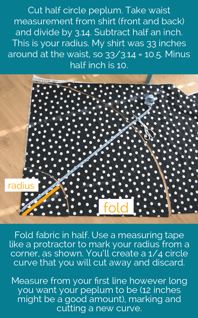 how to sew circle skirt
