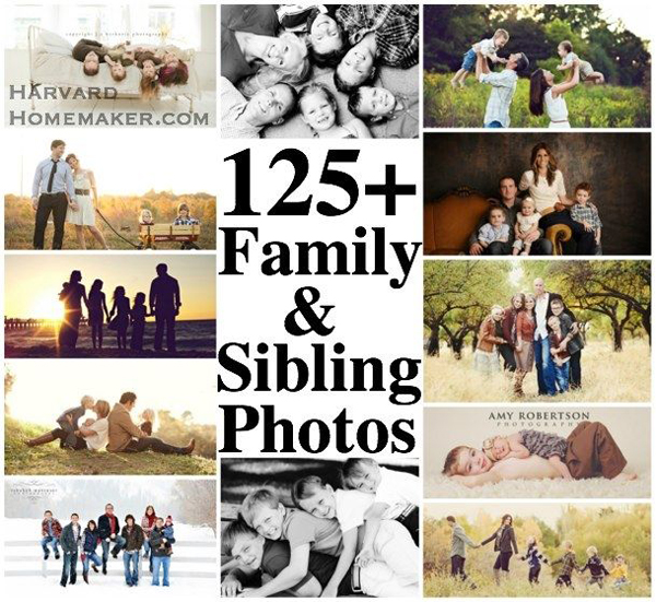 Collage of family and sibling photos