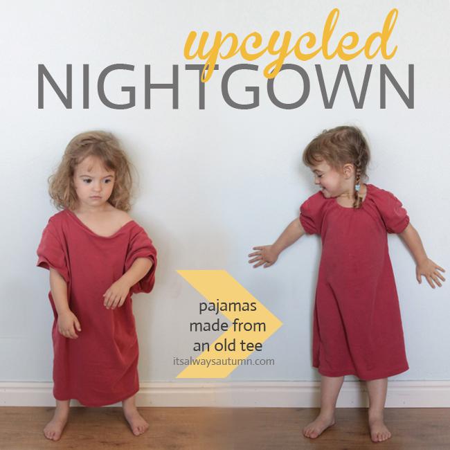 upcycled pajamas little girl