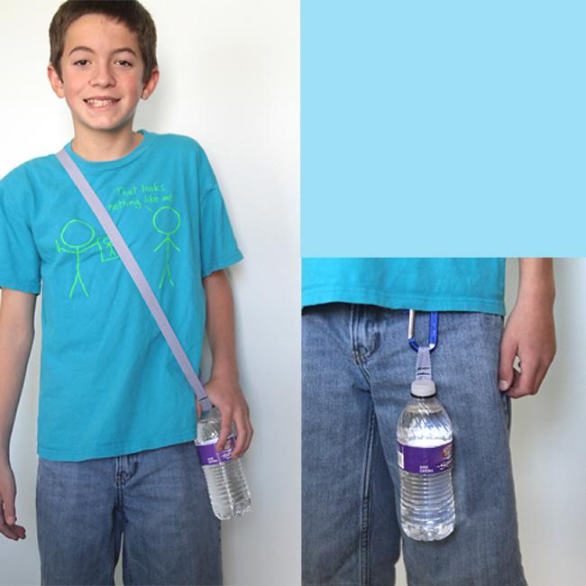 DIY water bottle holder strap