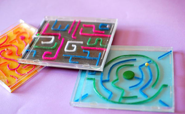 Mazes made from CD cases