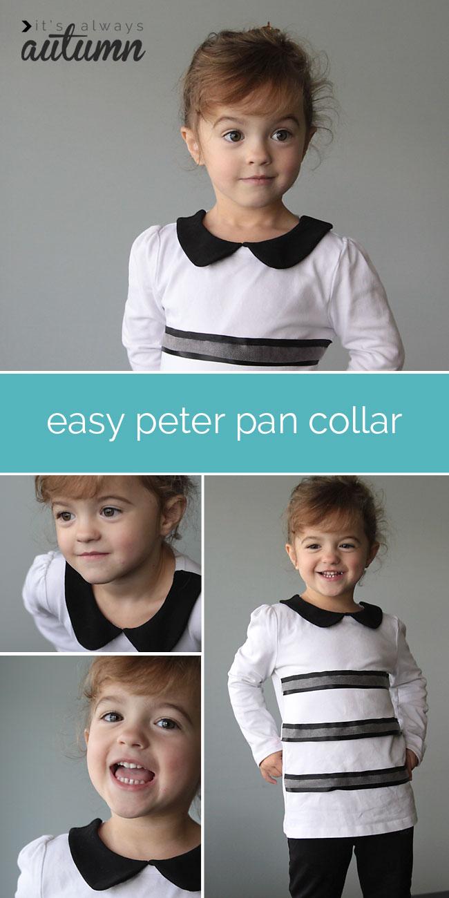 easy peter pan collar sewing tutorial