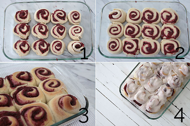 how to make raspberry rolls with step by step photos