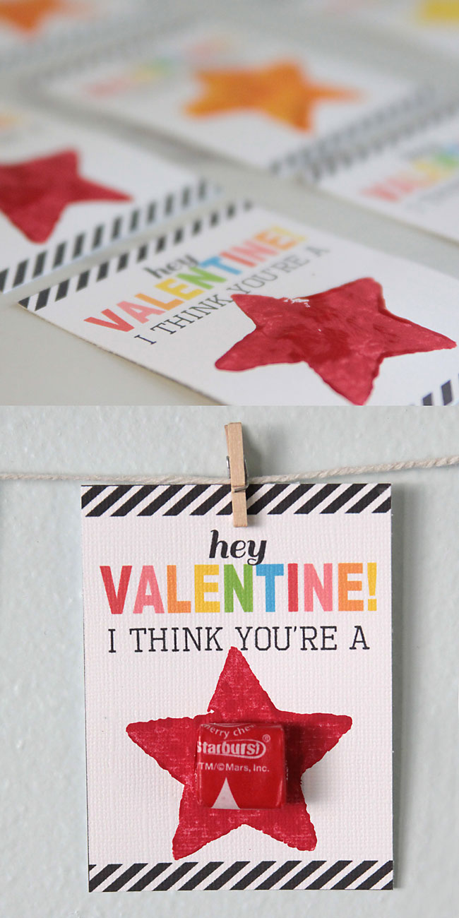 """you're a star!"" V-day cards for kids' friends at school"