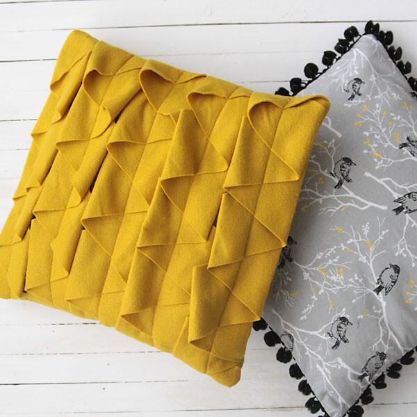 Two DIY throw pillows