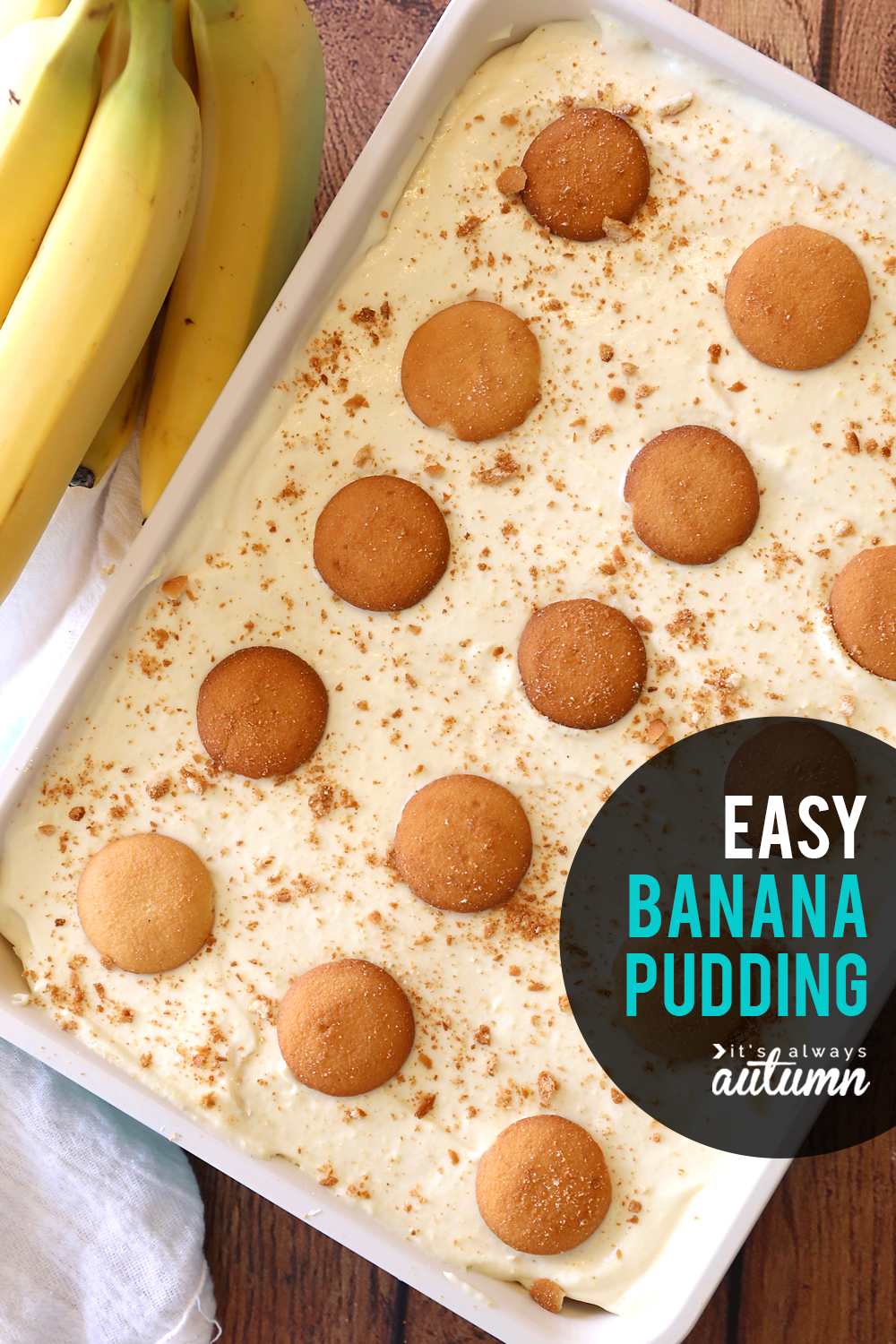 This is THE BEST easy banana pudding recipe - it doesn't take long to make and everyone loves it!