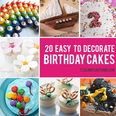 20 easy birthday cakes that anyone can decorate