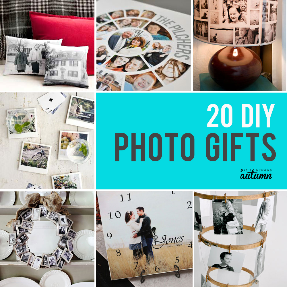 20 gorgeous DIY photo gifts. Click through for photo gift ideas for Mother's Day, Father's Day, grandparents, and more.