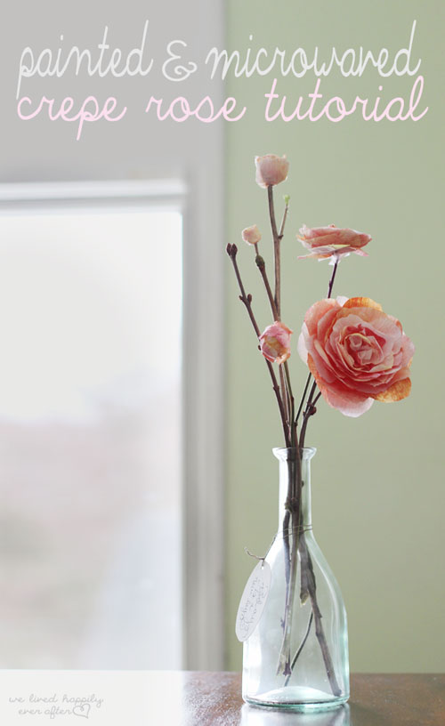 Painted paper rose tutorial