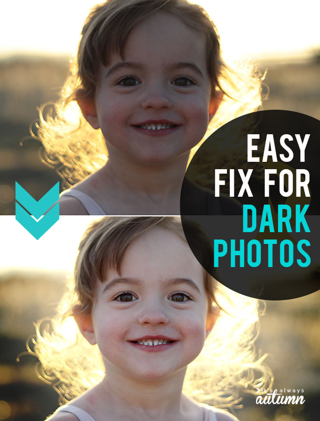 How to fix dark photos! Easy photo editing tips for brightening underexposed photos.