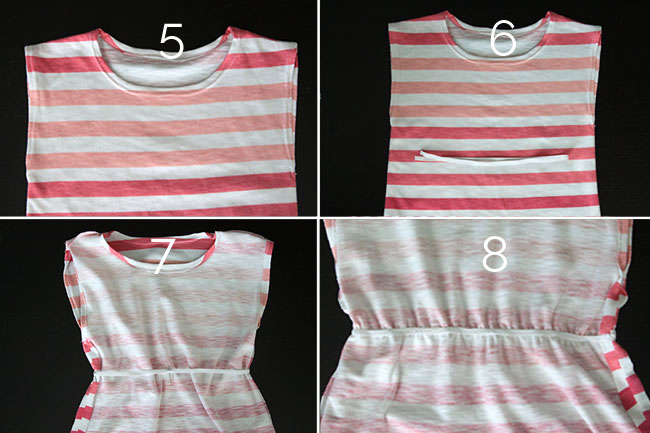 Sewing steps for swimsuit coverup