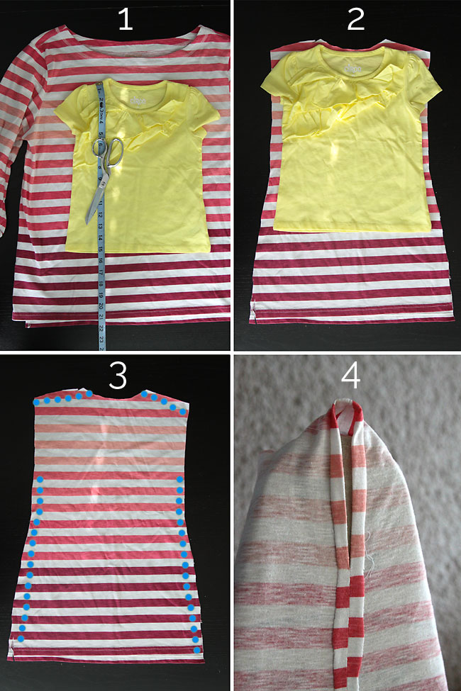 Cutting instructions for DIY swimsuit coverup