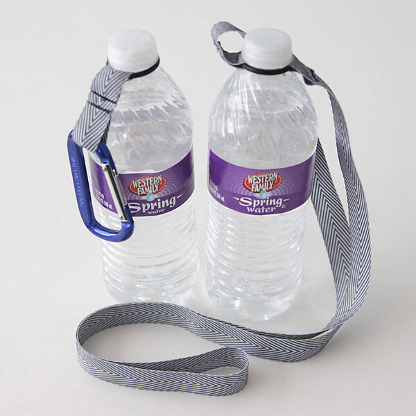 Water bottles with O-ring holders